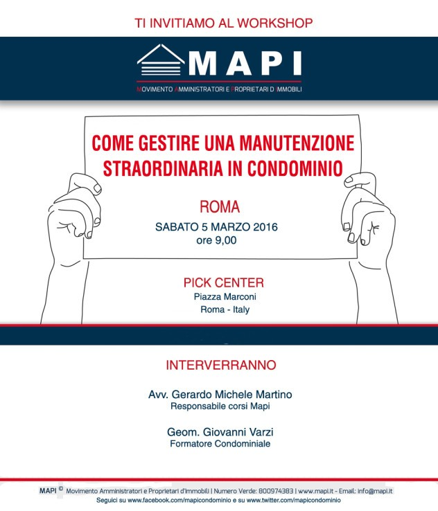 Workshop mapi roma