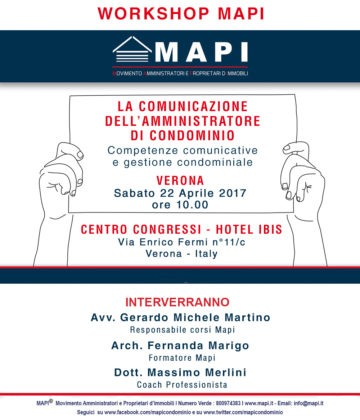 Workshop Mapi Verona 22 04 2017