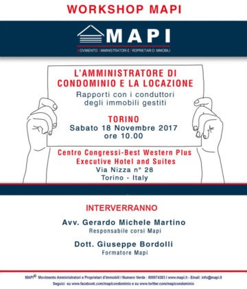 Workshop amministratore di condominio