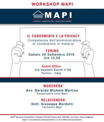 workshop amministratore di condominio Torino