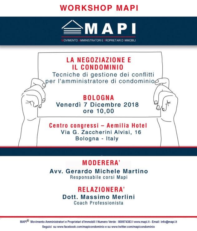 Workshop amministratore di condominio Bologna